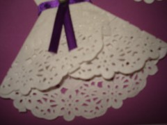 carte robe,dentelle,napperon,scrap,tuto